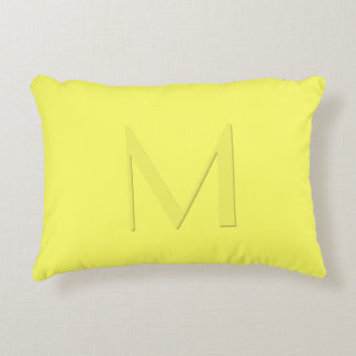 Soft Yellow Monogrammed Accent Pillow