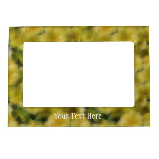 Soft Yellow Primrose Flowers Magnetic Frame