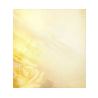 Soft yellow rose notepad