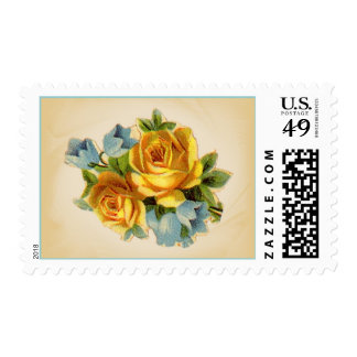 Soft Yellow Rose Postage Stamps