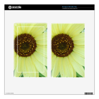 Soft Yellow Sunflower Decal For Kindle Fire