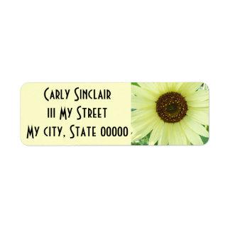 Soft Yellow Sunflower Label