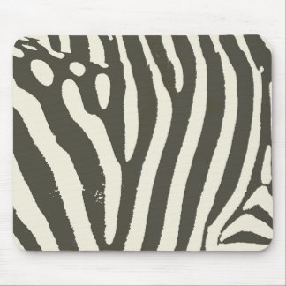 Soft Zebra Print Modern Contemporary Mouse Pad