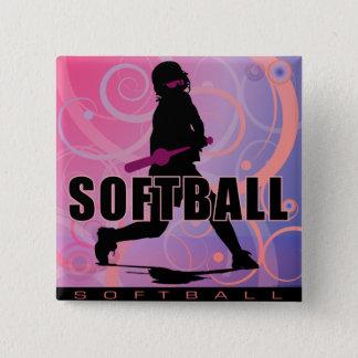 softball104 pinback button