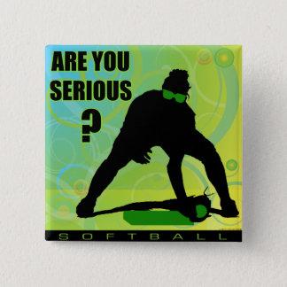 softball48 pinback button