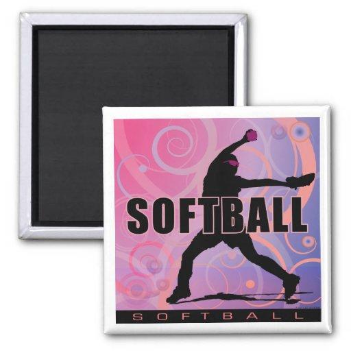 softball5 imanes de nevera