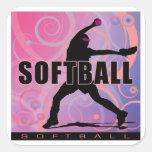 softball5 pegatina cuadrada