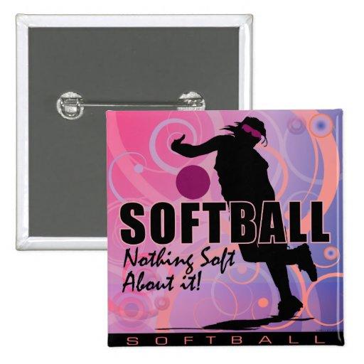 softball80 pinback button