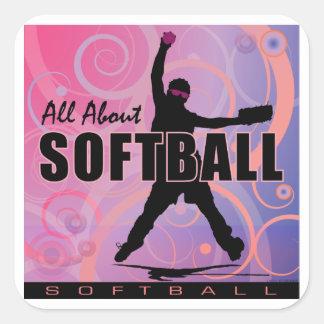 softball89 square stickers