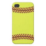 Softball 1 de Fastpitch iPhone 4/4S Carcasa