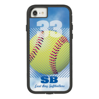Softball #33 Blue Case-Mate Tough Extreme iPhone 8/7 Case