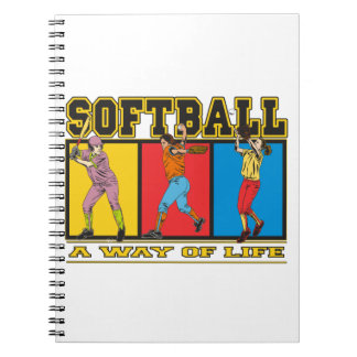 Softball A Way of Life Notebook