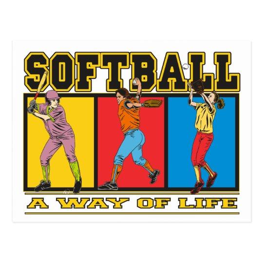 Softball A Way of Life Postcard