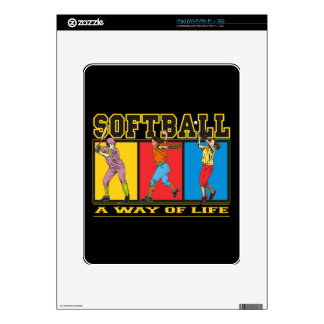Softball A Way of Life Skin For The iPad