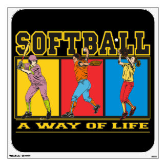 Softball A Way of Life Wall Sticker