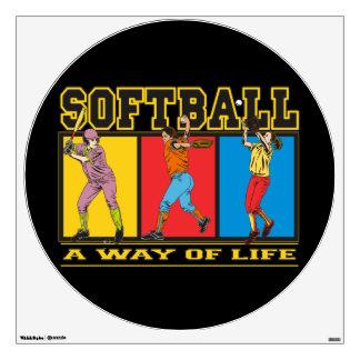 Softball A Way of Life Room Graphics