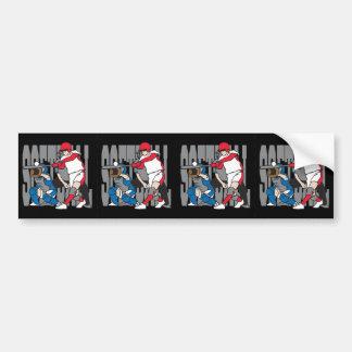 Softball Action Bumper Sticker