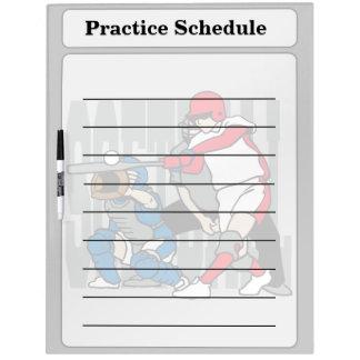 Softball Action Dry-Erase Board