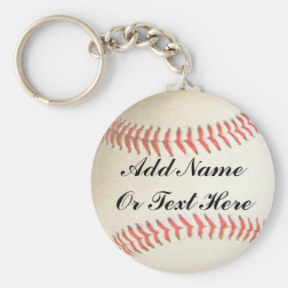 SOFTBALL ADD NAME OR TEXT HERE-KEYCHAIN BASIC ROUND BUTTON KEYCHAIN