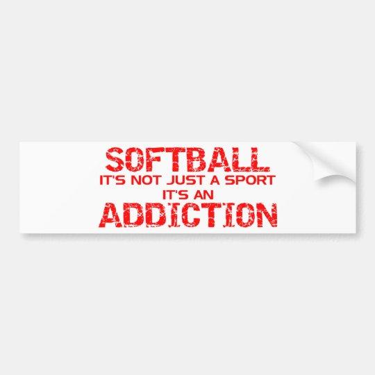 Softball Addiction Bumper Sticker