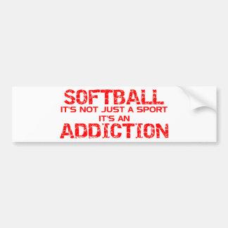 Softball Addiction Car Bumper Sticker