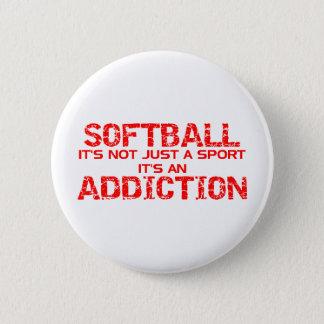 Softball Addiction Pinback Button