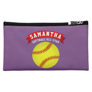 Softball All-Star Makeup Bag