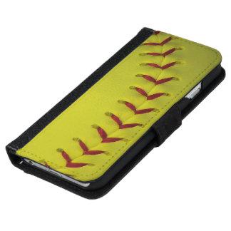 Softball amarillo brillante de encargo carcasa de iPhone 6