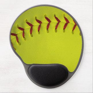 Softball amarillo de Dayglo Alfombrillas De Ratón Con Gel