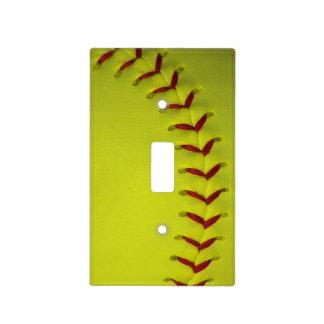 Softball amarillo de Dayglo Placas Para Interruptor
