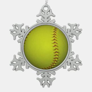 Softball amarillo de neón adorno