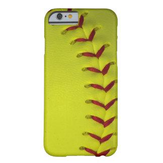 Softball amarillo de neón funda barely there iPhone 6