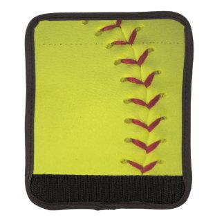 Softball amarillo de neón funda para asa de maleta