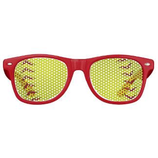 Softball amarillo de neón lentes de fiesta