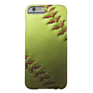 Softball amarillo Fastpitch Funda De iPhone 6 Barely There