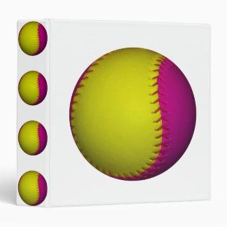 Softball amarillo y rosado brillante