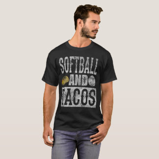 Softball and Taco Funny Taco Distressed T-Shirt