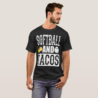 Softball and Taco Funny Taco T-Shirt