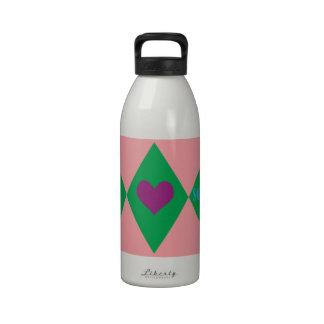 Softball Argyle Botella De Agua Reutilizable