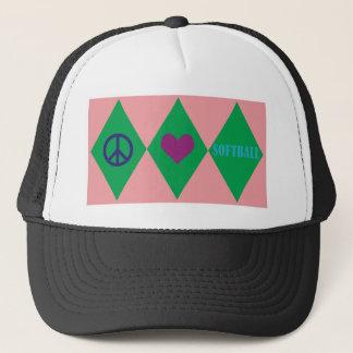 Softball Argyle Trucker Hat