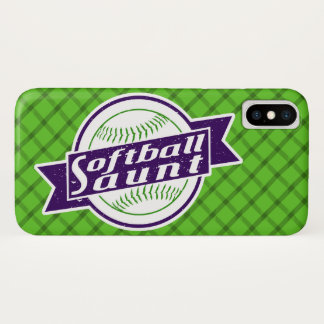 Softball Aunt Cell Phone Case