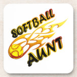 Softball Aunt (flame).png Drink Coasters