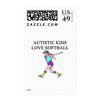 softball autístico del amor de los niños envio