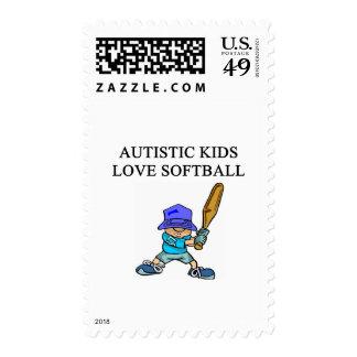 softball autístico del amor de los niños franqueo