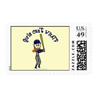 Softball azul claro sello