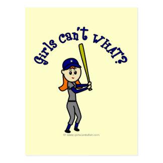 Softball azul claro postales