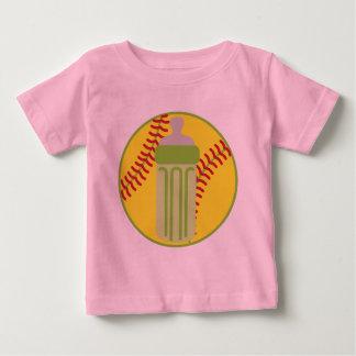 Softball Baby Bottle Baby T-Shirt
