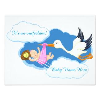 Softball Baby Girl Card