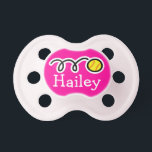 "Softball baby girl pacifier | Soother dummy binkie<br><div class=""desc"">Pink softball baby girl pacifier 