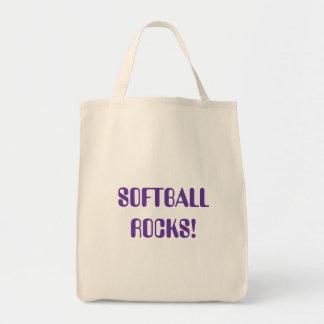 softball grocery tote bag